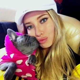 Kristina & her dog